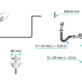 TEXO Jednodelni sifon Ø 90mm ( metalni navoj )